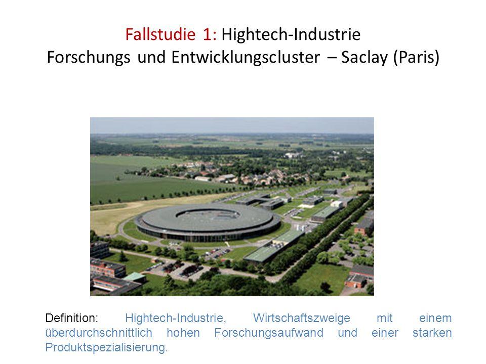 Fallstudie 1: Hightech-Industrie Forschungs und Entwicklungscluster – Saclay (Paris)