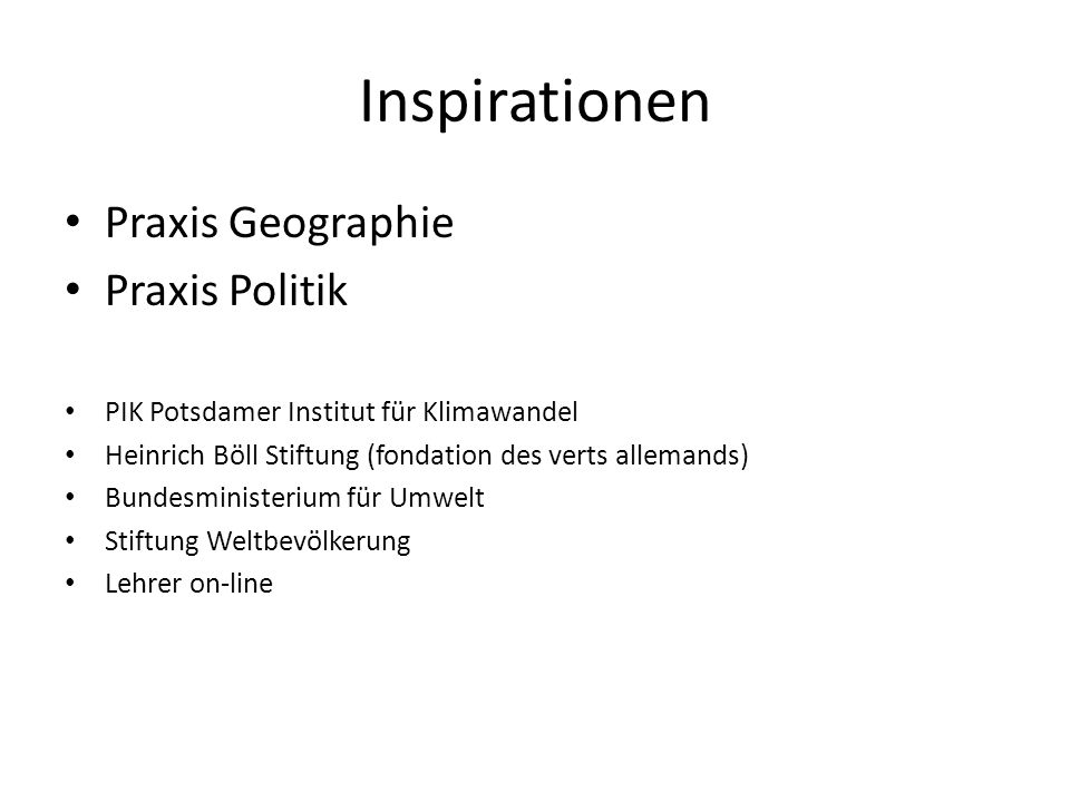 Inspirationen Praxis Geographie Praxis Politik