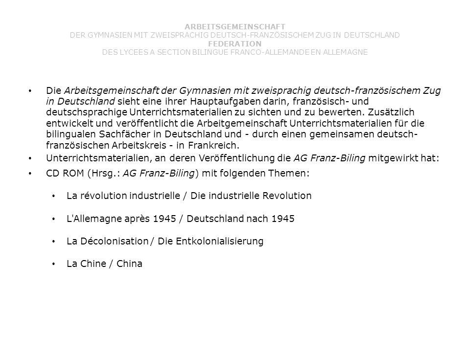 CD ROM (Hrsg.: AG Franz-Biling) mit folgenden Themen: