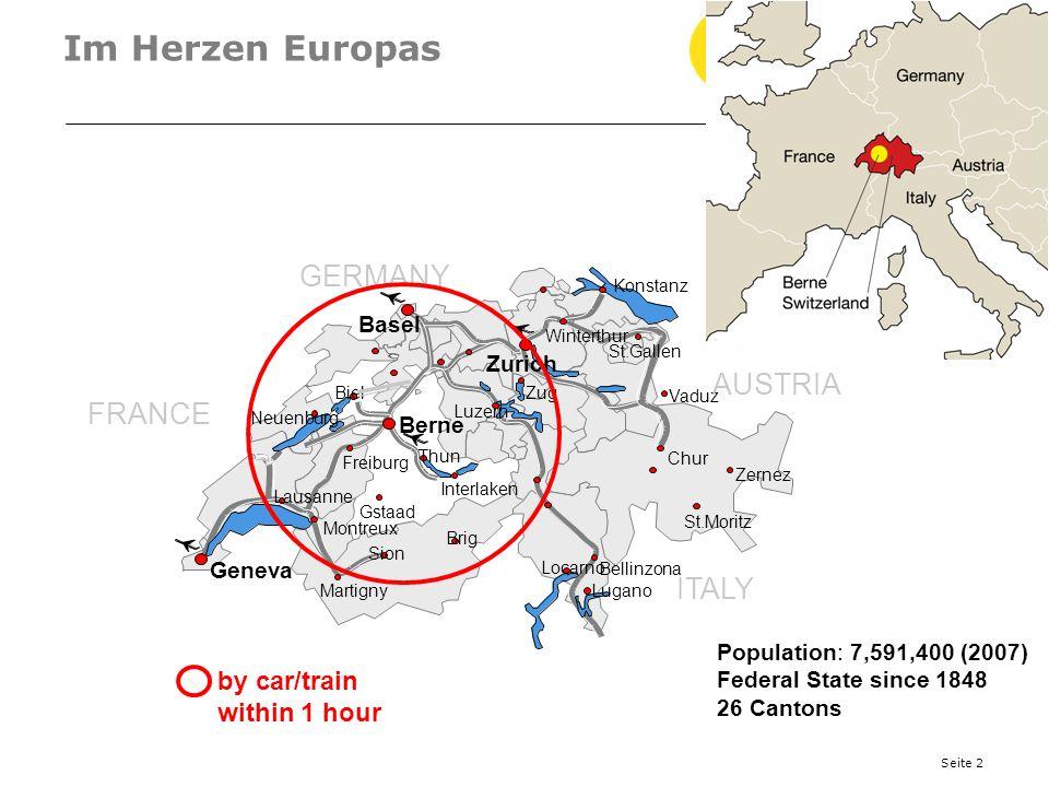Im Herzen Europas GERMANY AUSTRIA FRANCE ITALY