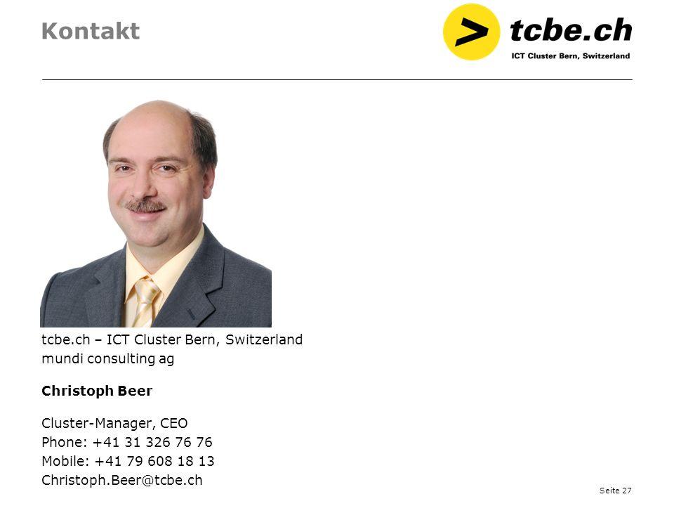 Kontakt tcbe.ch – ICT Cluster Bern, Switzerland mundi consulting ag