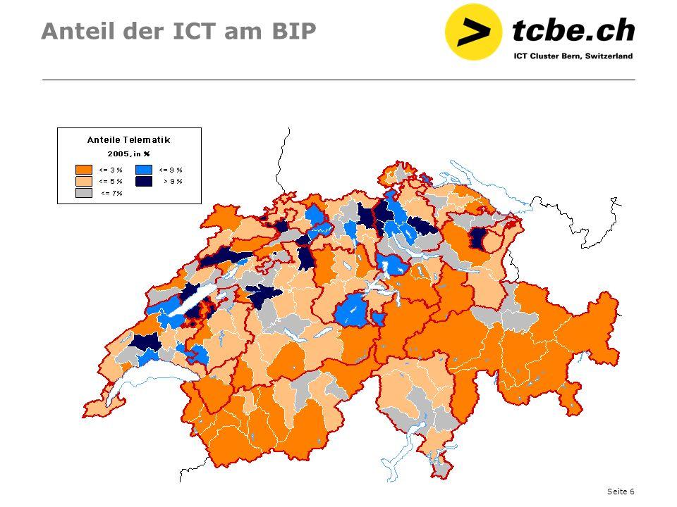 Anteil der ICT am BIP