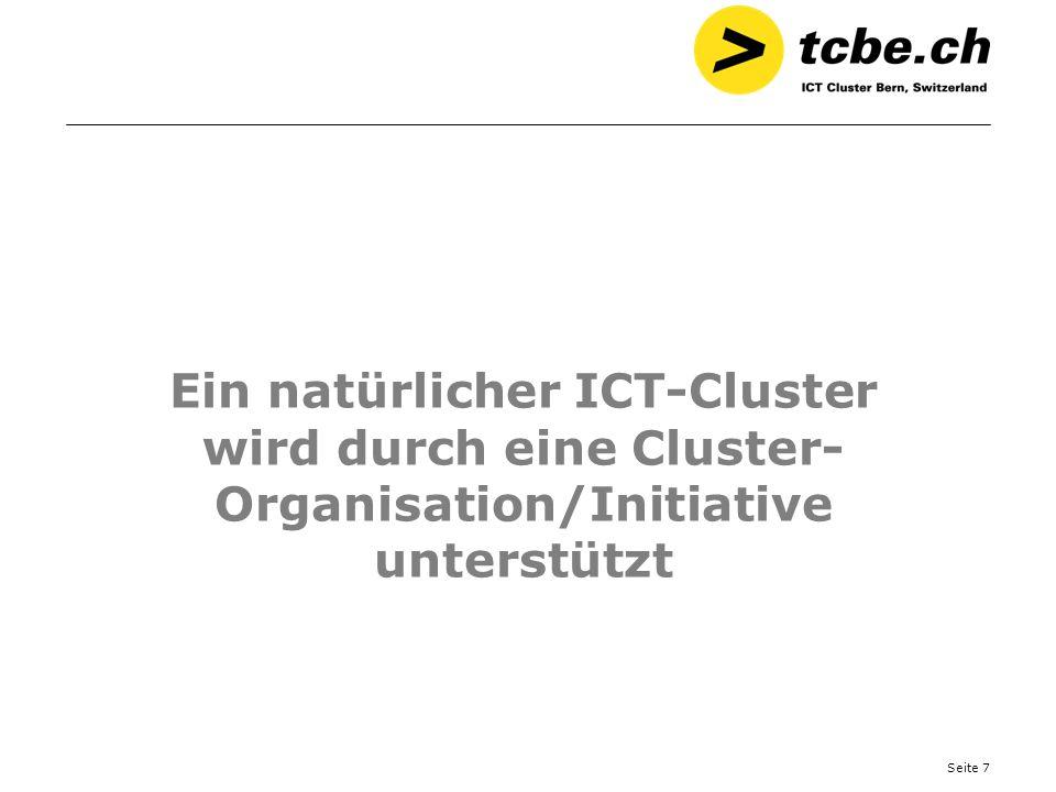 Ein natürlicher ICT-Cluster wird durch eine Cluster-Organisation/Initiative unterstützt