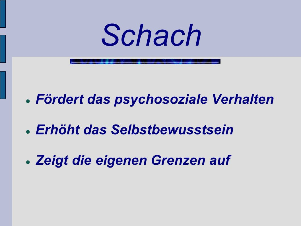 Schach Fördert das psychosoziale Verhalten
