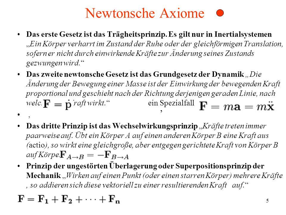 Newtonsche Axiome