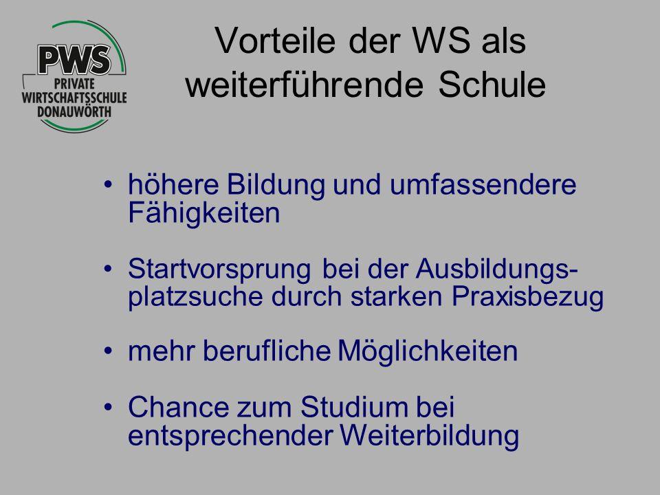 Vorteile der WS als weiterführende Schule
