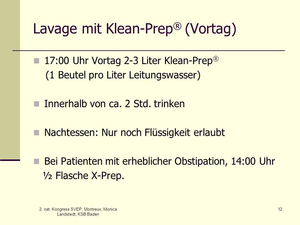 Lavage mit Klean-Prep® (Vortag)