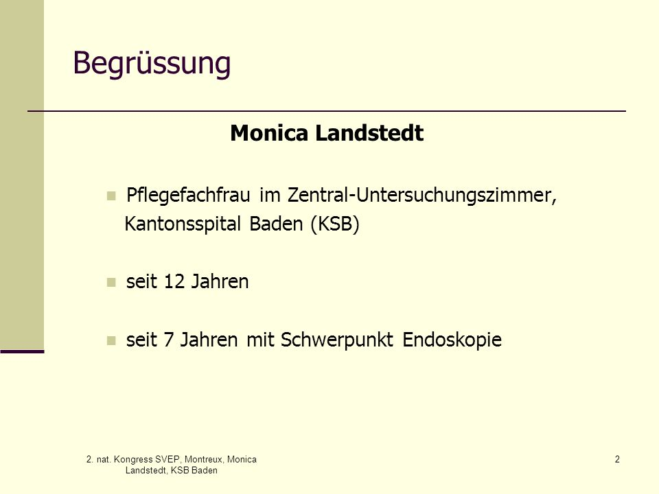 2. nat. Kongress SVEP, Montreux, Monica Landstedt, KSB Baden