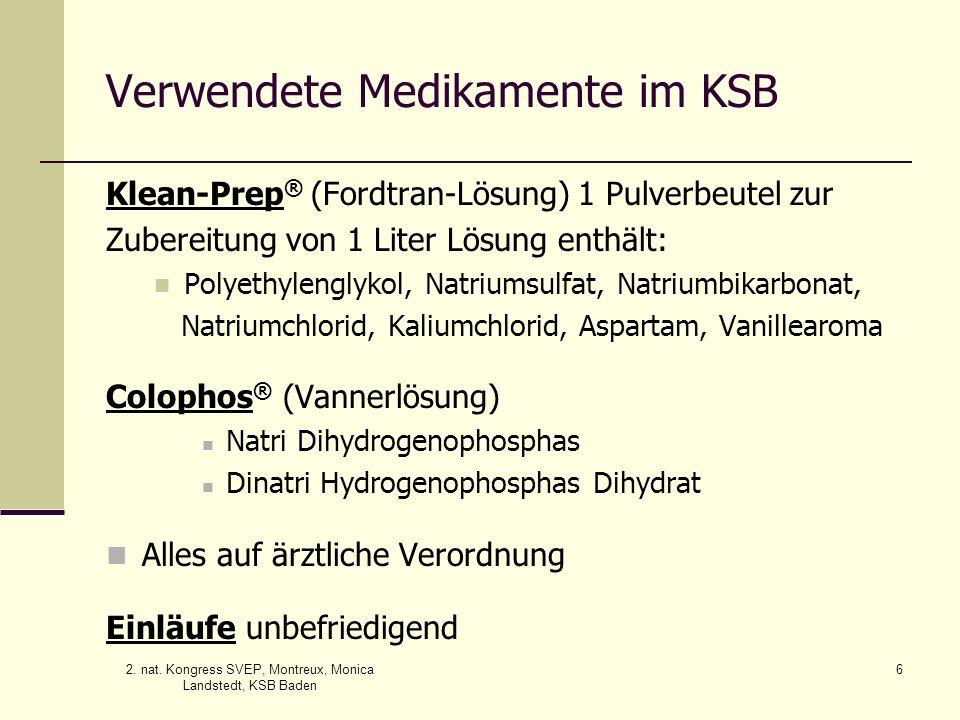 Verwendete Medikamente im KSB