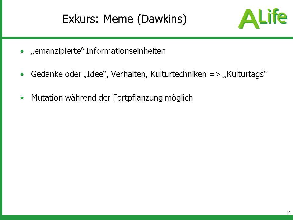 Exkurs: Meme (Dawkins)