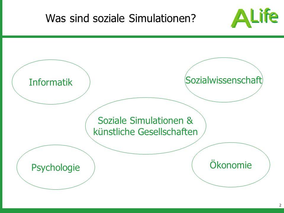 Was sind soziale Simulationen