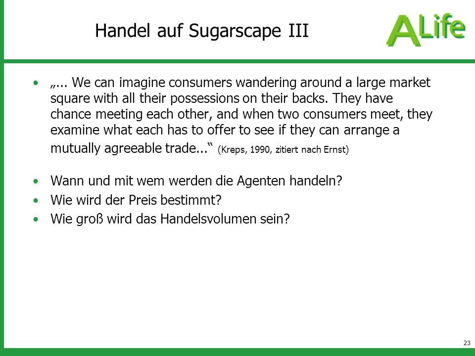 Handel auf Sugarscape III