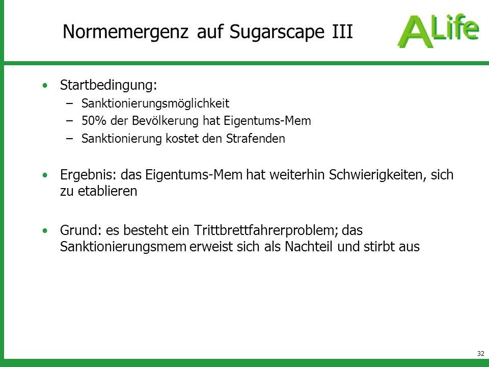 Normemergenz auf Sugarscape III
