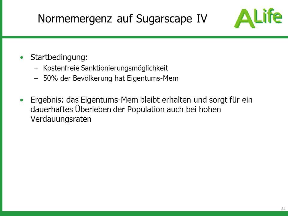 Normemergenz auf Sugarscape IV