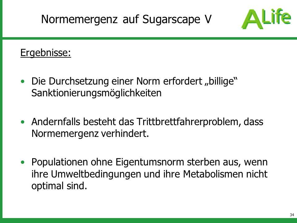 Normemergenz auf Sugarscape V