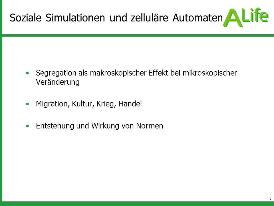 Soziale Simulationen und zelluläre Automaten