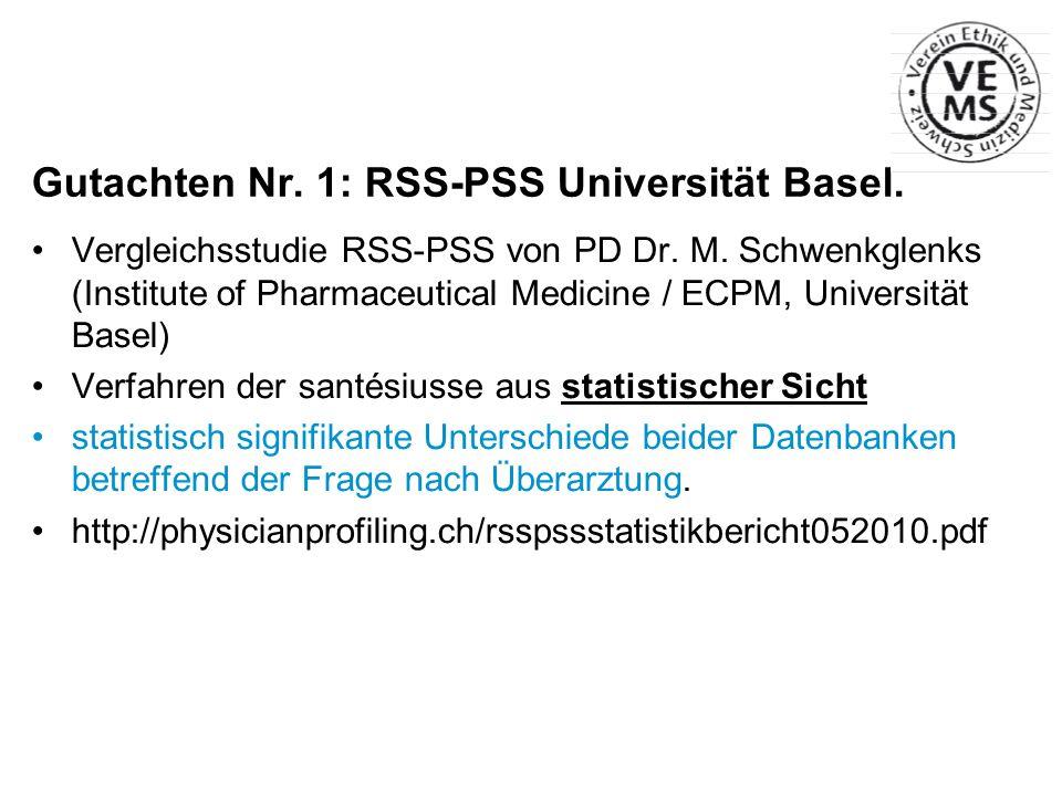 Gutachten Nr. 1: RSS-PSS Universität Basel.
