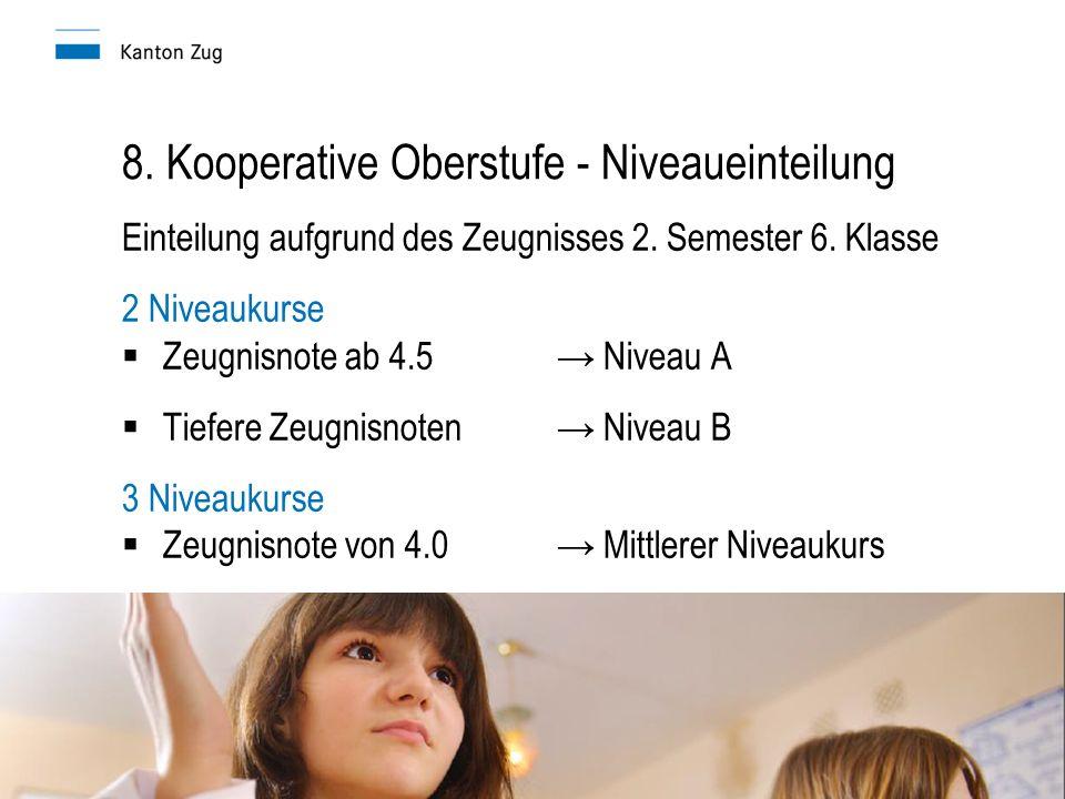 8. Kooperative Oberstufe - Niveaueinteilung