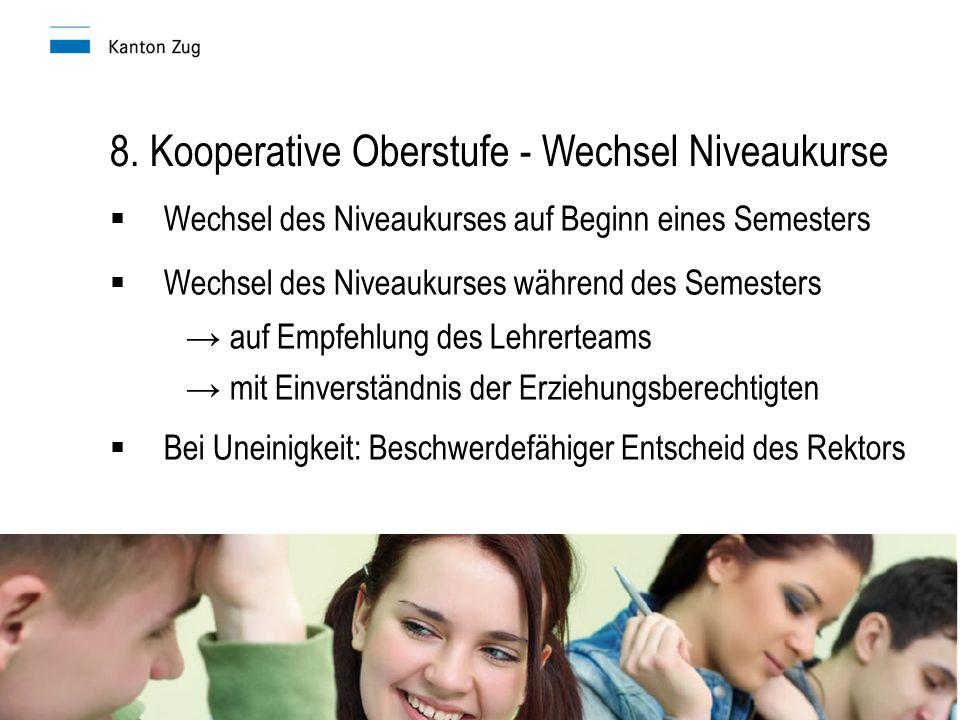 8. Kooperative Oberstufe - Wechsel Niveaukurse