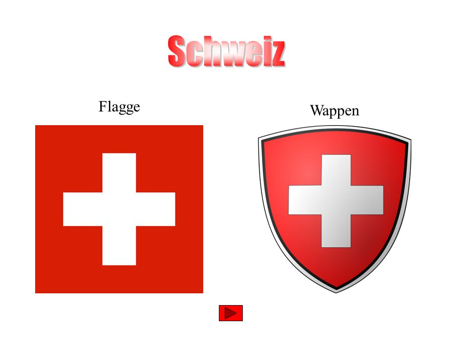 Schweiz Flagge Wappen