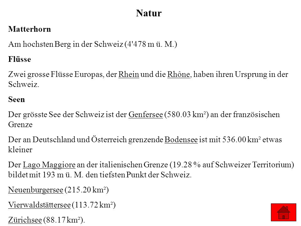 Natur Matterhorn Am hochsten Berg in der Schweiz (4 478 m ü. M.)