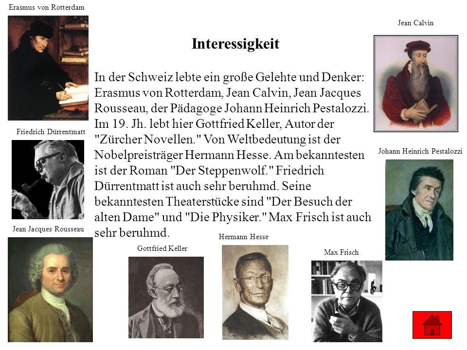 Erasmus von Rotterdam Jean Calvin. Interessigkeit.