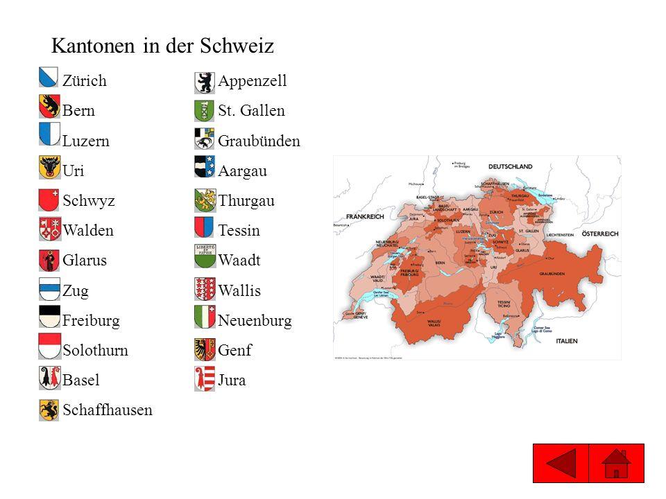 Kantonen in der Schweiz