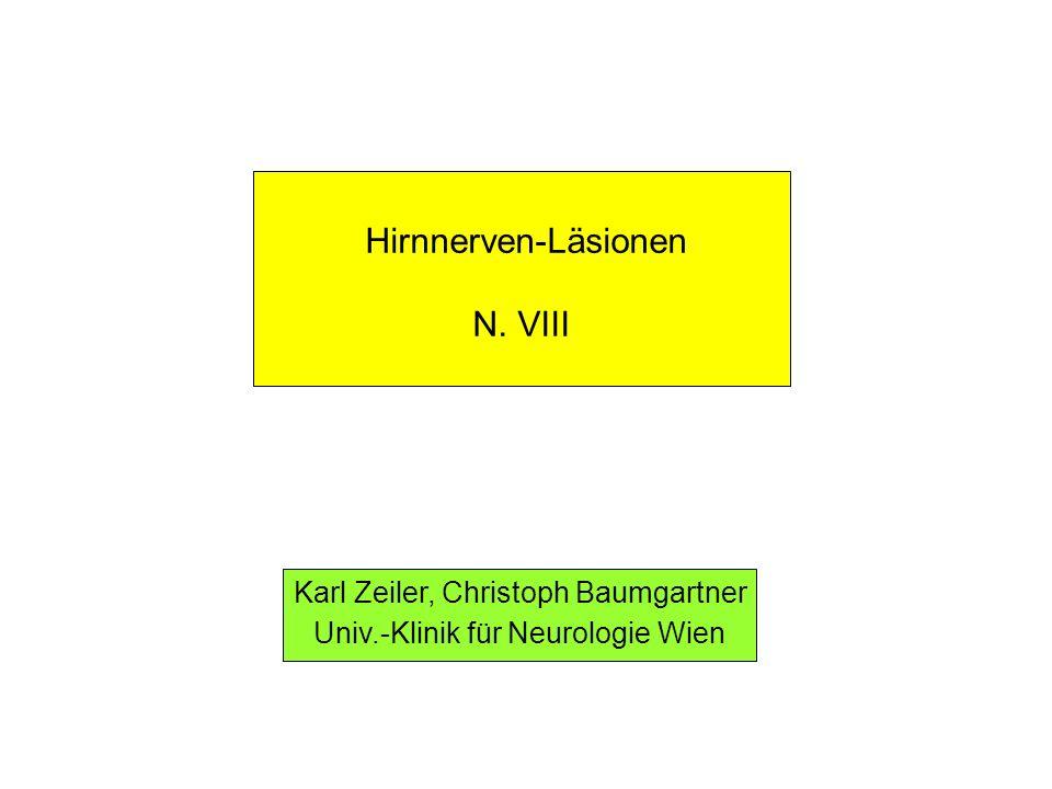Hirnnerven-Läsionen N. VIII Karl Zeiler, Christoph Baumgartner