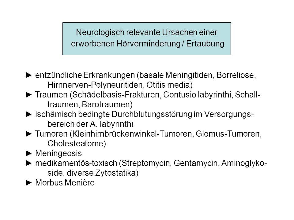 Neurologisch relevante Ursachen einer