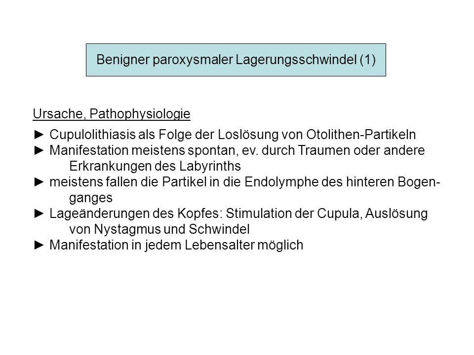 Benigner paroxysmaler Lagerungsschwindel (1)
