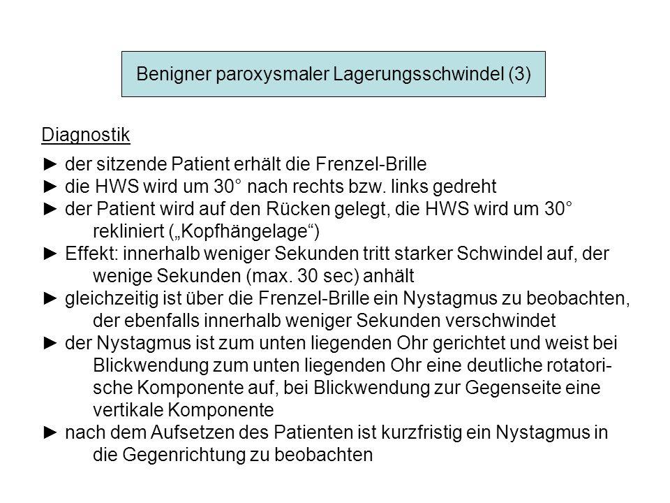 Benigner paroxysmaler Lagerungsschwindel (3)