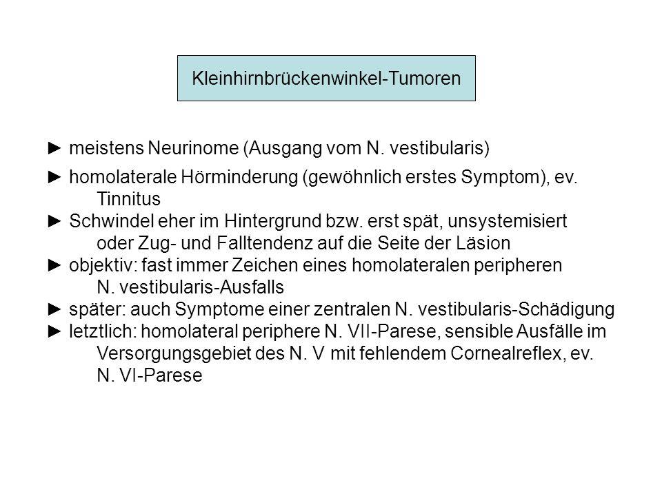 Kleinhirnbrückenwinkel-Tumoren