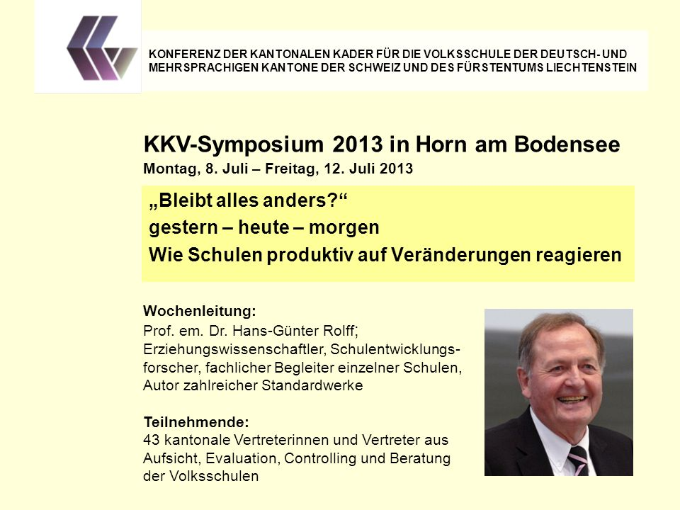 KKV-Symposium 2013 in Horn am Bodensee