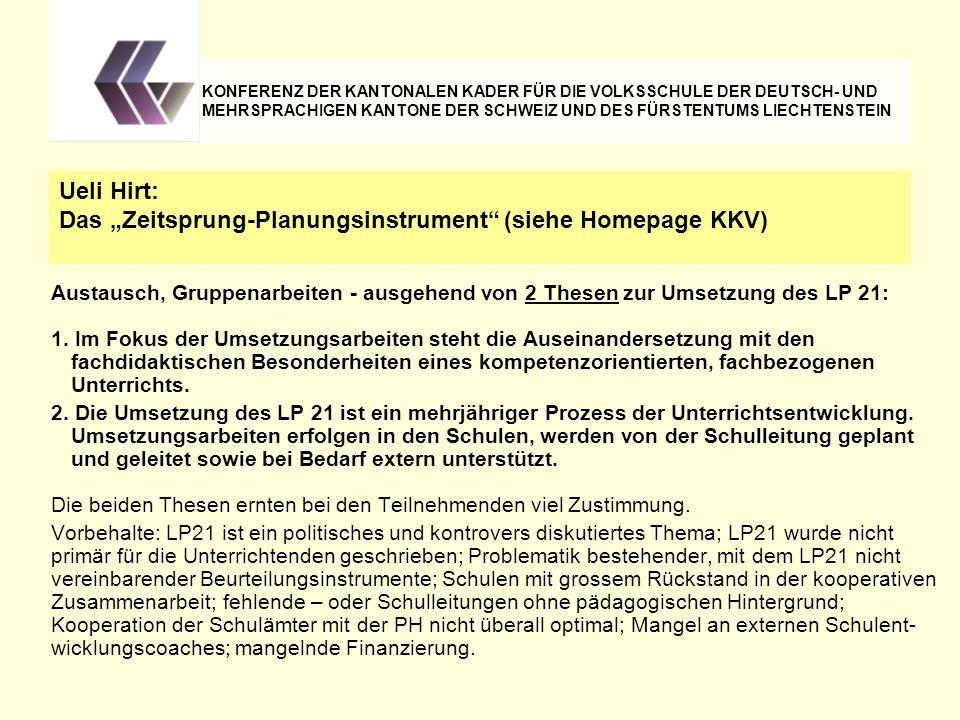 """Das """"Zeitsprung-Planungsinstrument (siehe Homepage KKV)"""