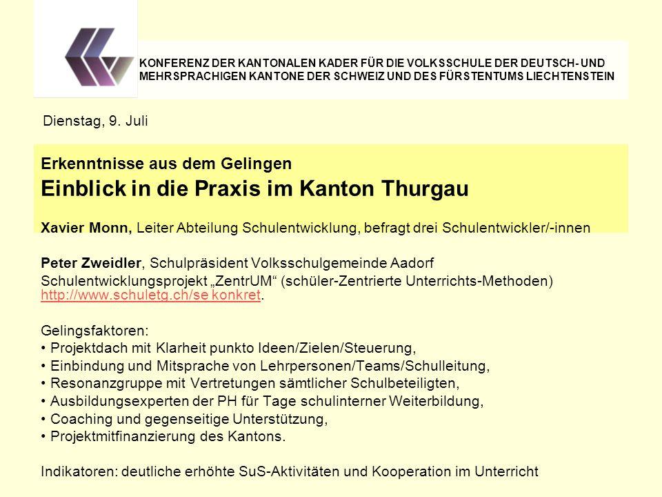 Einblick in die Praxis im Kanton Thurgau