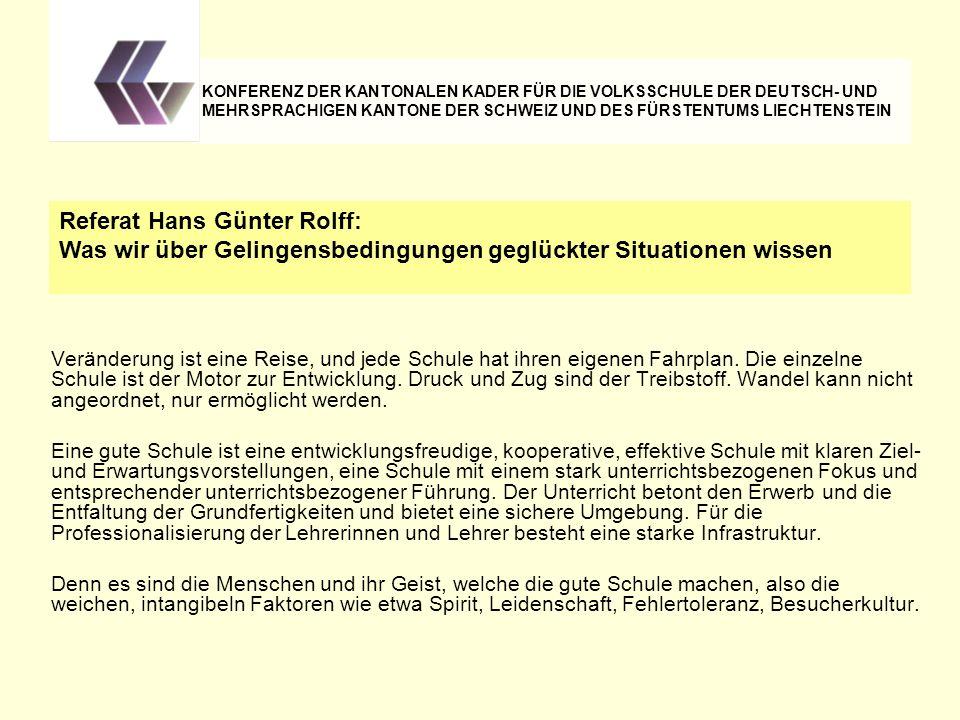 Referat Hans Günter Rolff: