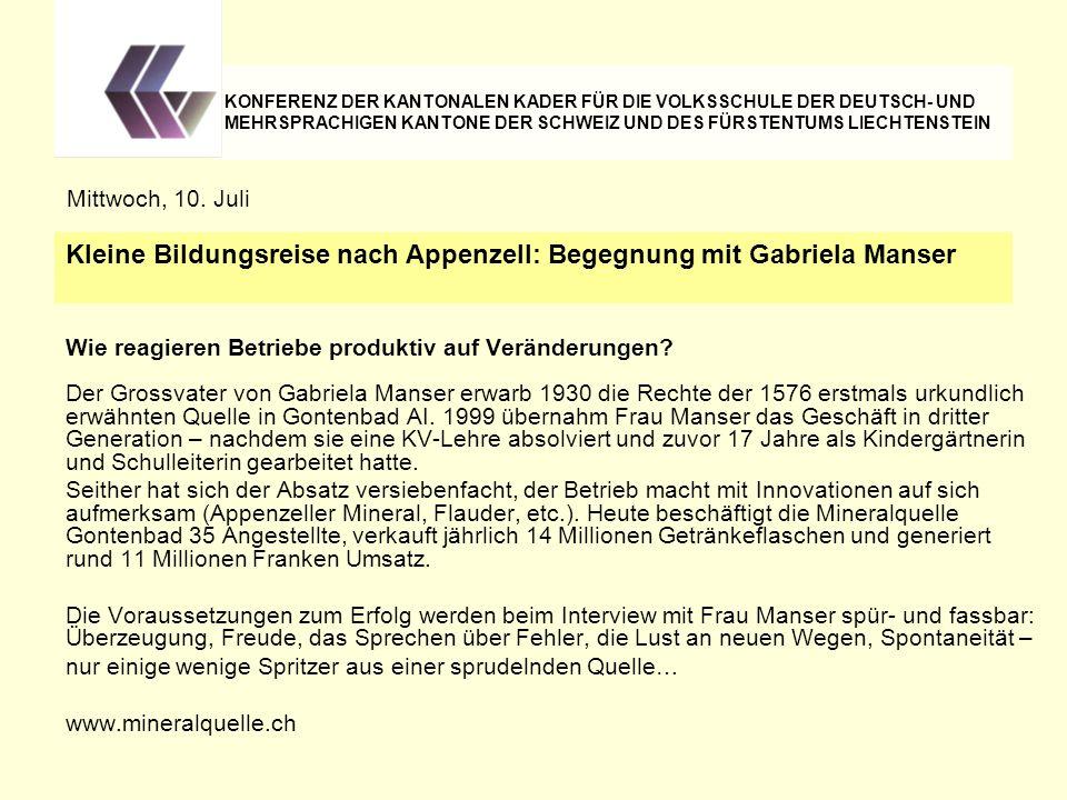Kleine Bildungsreise nach Appenzell: Begegnung mit Gabriela Manser