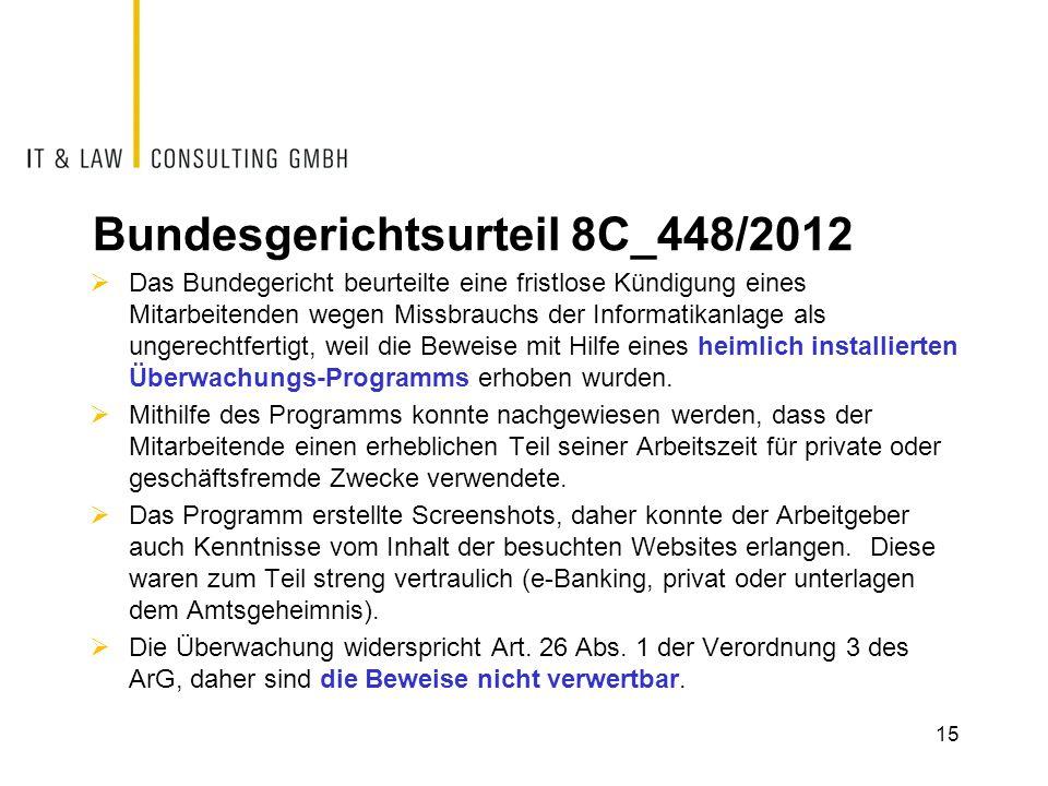 Bundesgerichtsurteil 8C_448/2012