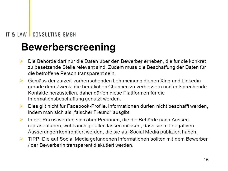 Bewerberscreening