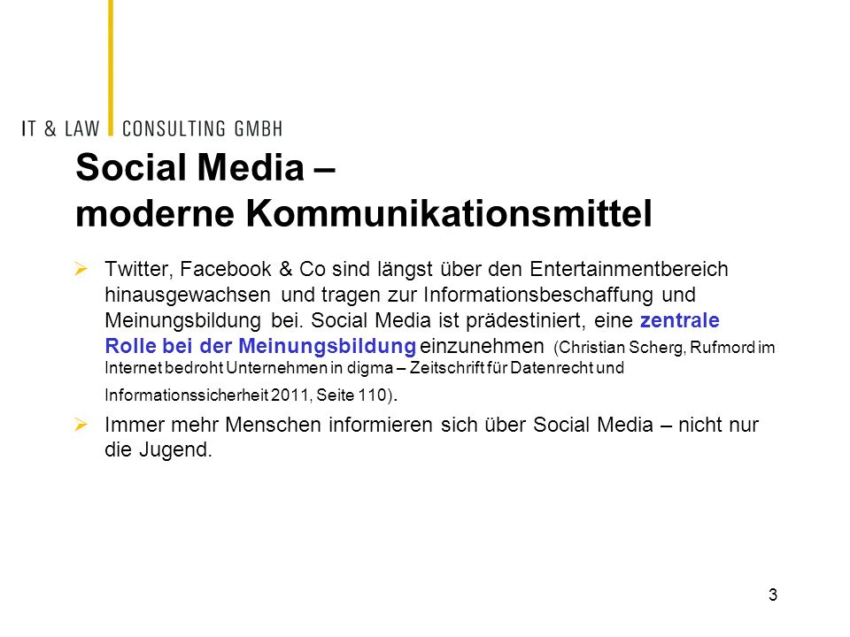 Social Media – moderne Kommunikationsmittel