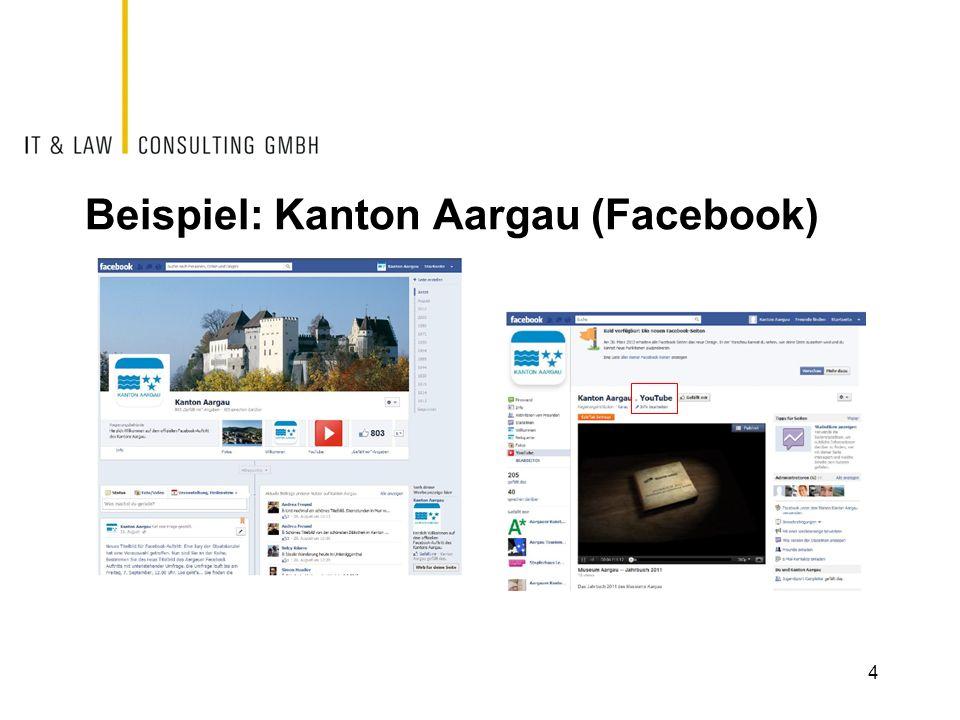 Beispiel: Kanton Aargau (Facebook)
