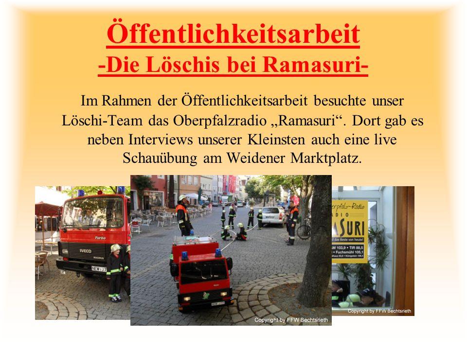 Öffentlichkeitsarbeit -Die Löschis bei Ramasuri-