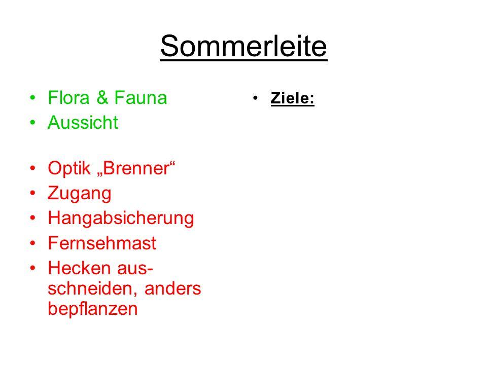 "Sommerleite Flora & Fauna Aussicht Optik ""Brenner Zugang"
