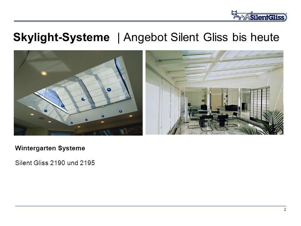 Skylight-Systeme | Angebot Silent Gliss bis heute