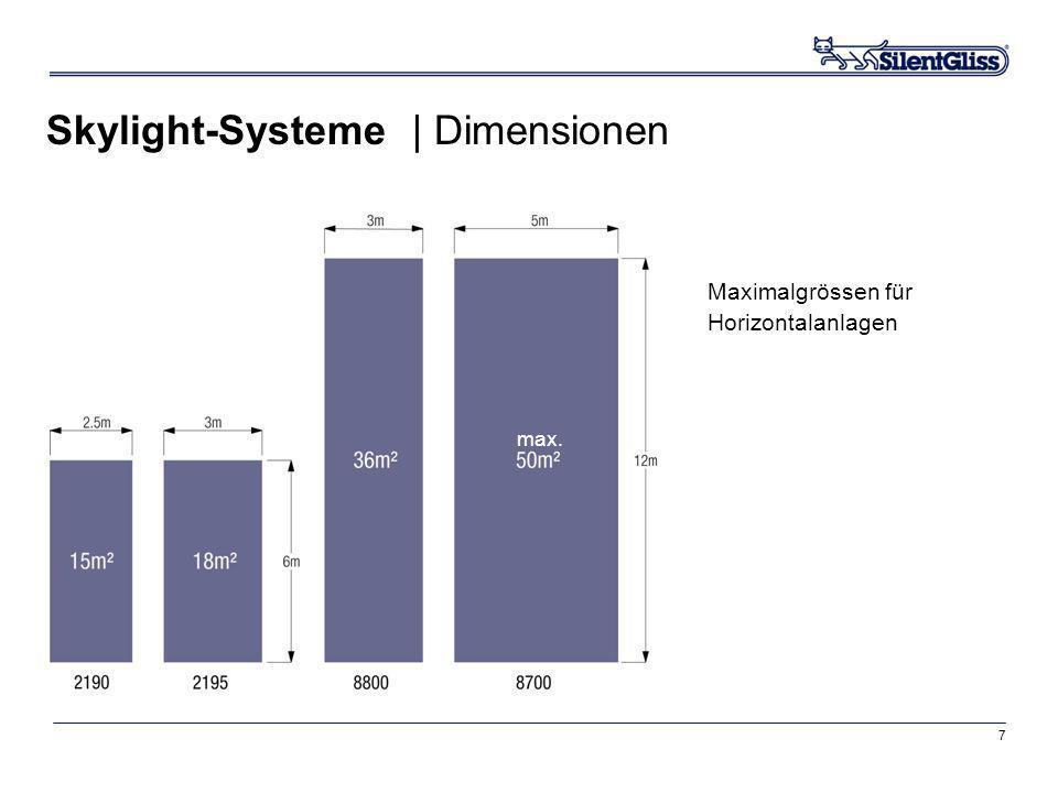 Skylight-Systeme | Dimensionen