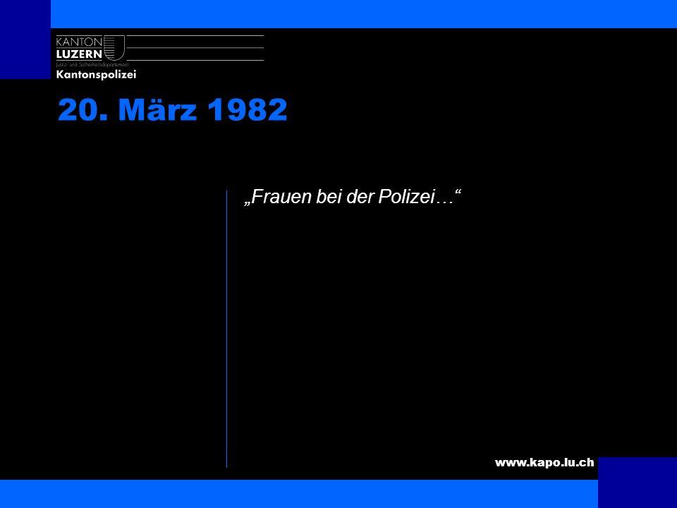 """20. März 1982 """"Frauen bei der Polizei… Kurze Unfallschilderung"""