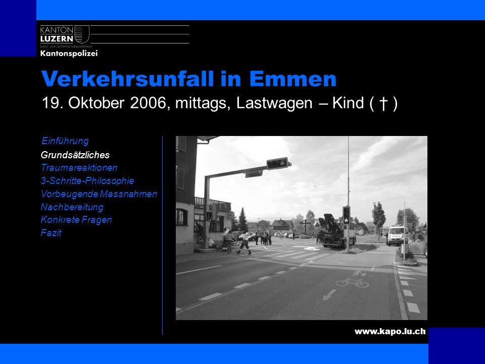 Verkehrsunfall in Emmen