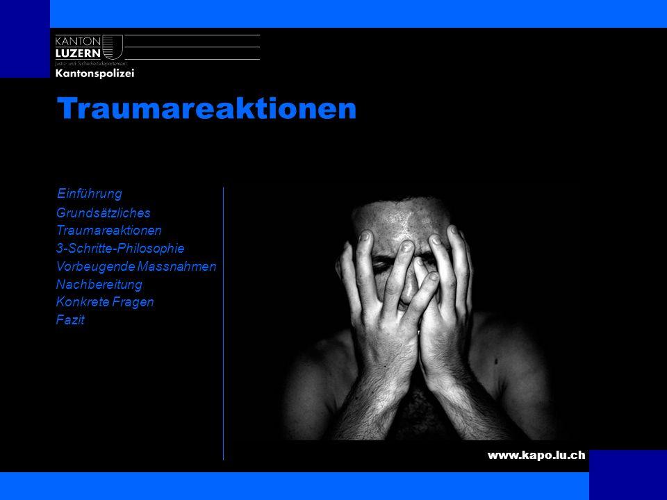 Traumareaktionen Einführung Kurze Unfallschilderung Ausrücken