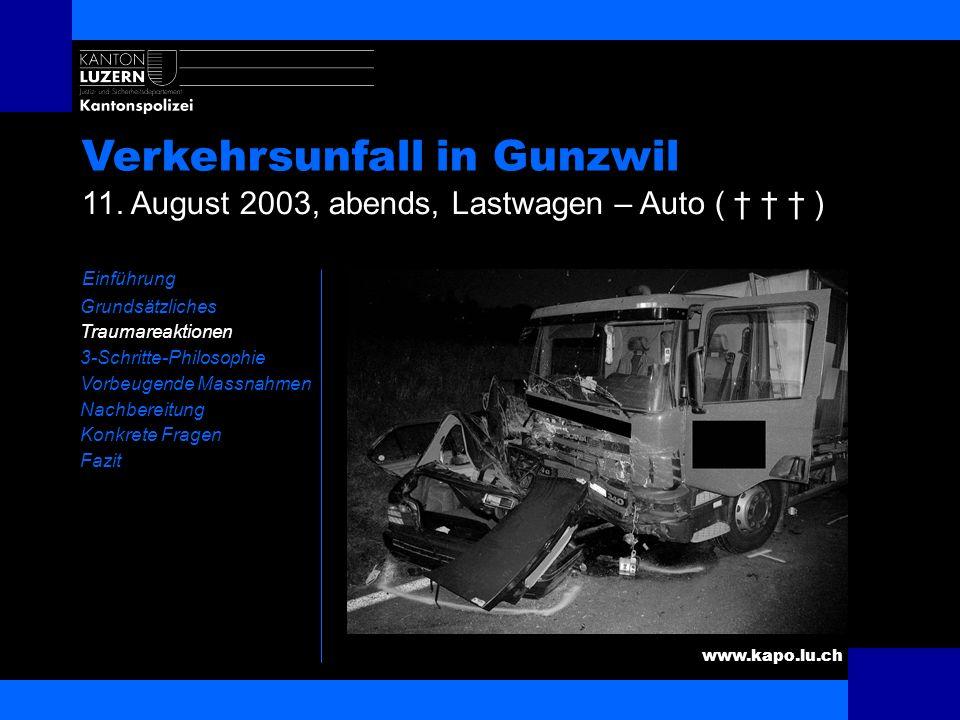 Verkehrsunfall in Gunzwil