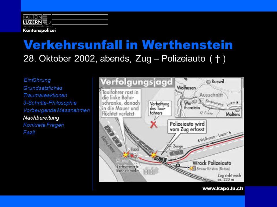 Verkehrsunfall in Werthenstein
